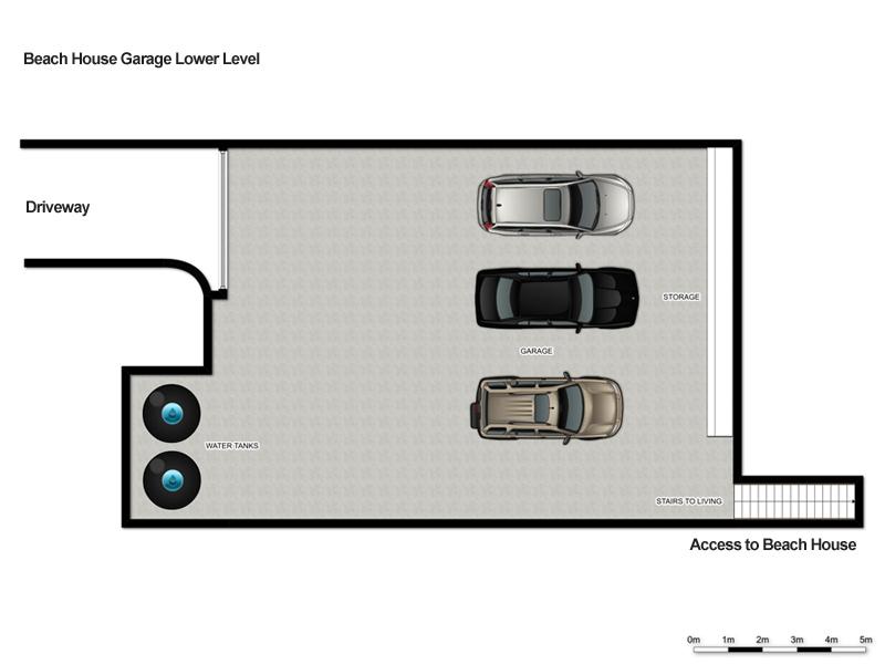 white sands hyams beach - beach house garage