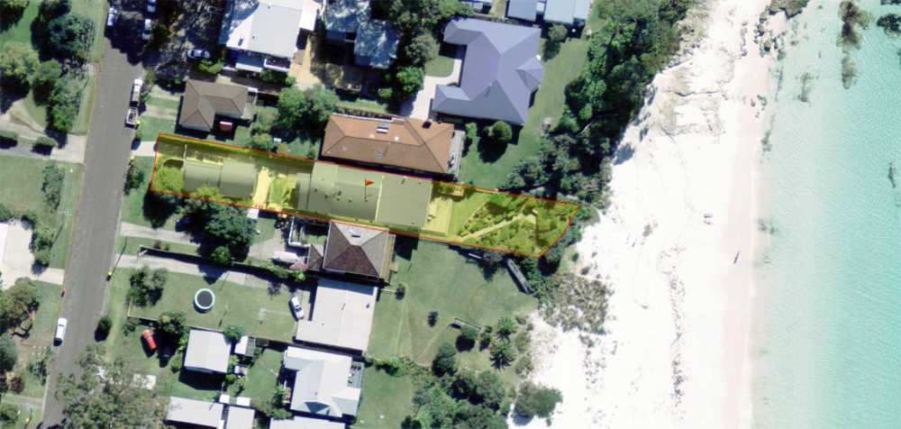 white sands hyams beach, absolute beach front with private access to jervis bay